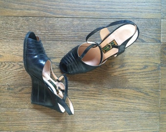 Vintage Shoes, wedge heel from 1960!