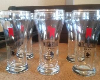 REDUCED Vintage beer glasses. Michelob glasses. Bar glasses.