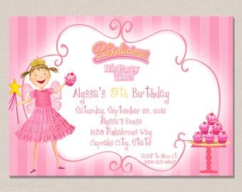 Pinkalicious Inspired Birthday Invitation