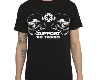 Star Wars inspired Tshirt 'Support The Troops' Classic Stormtrooper - 100% Cotton