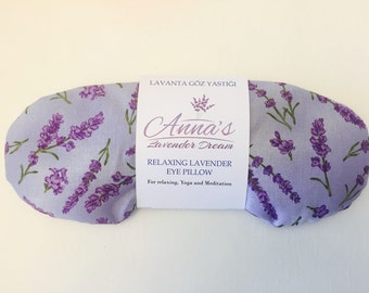 Relaxing Lavender Eye Pillow - Lavender Serenity