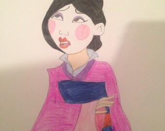 Mulan drawing