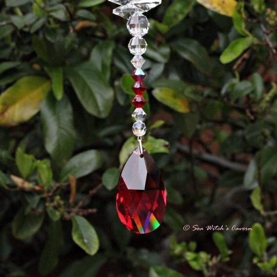 Ruby Wedding Gifts For Men: Ruby Wedding 40th Anniversary Gift Swarovski Suncatcher With