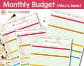 Monthly Budget Printable ...