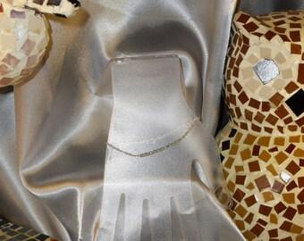 Stone Blue Topaz bracelet thin semi precious and Silver 925