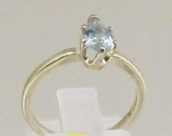 silver ring 925 and Sky Blue Topaz gemstone