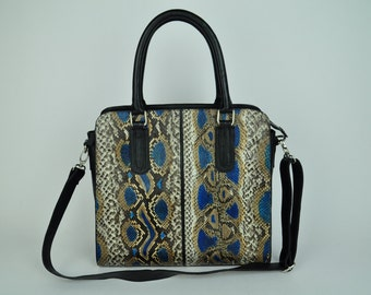 Genuine Exotic Python Handbag