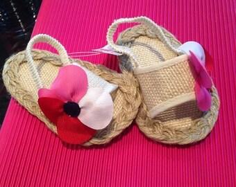 Baby girl crib shoe sandals