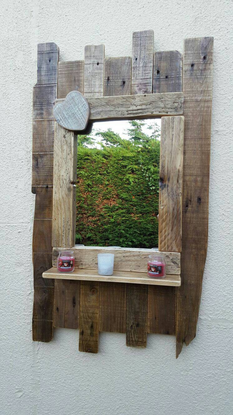 Wood Foyer Mirror : Wooden mirror entryway large handmade by conwyrustics