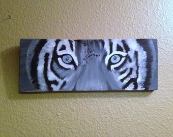Rustic Black and Gray Tiger Eyes with Pearl Eyes