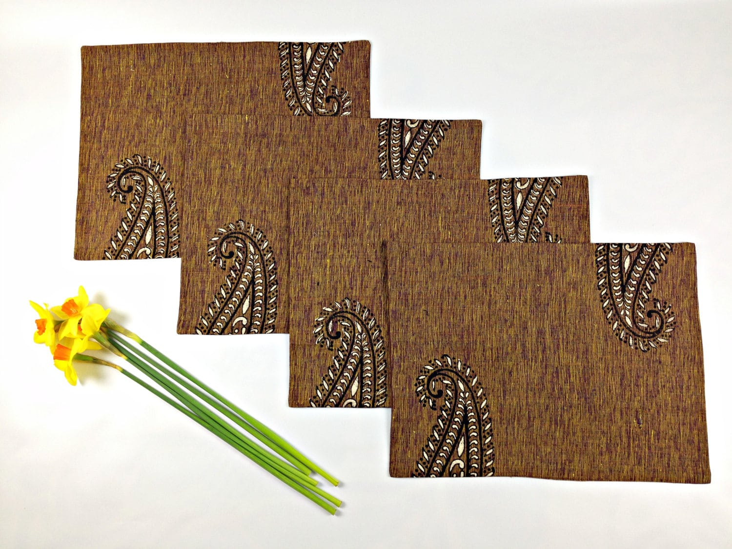 Brown Placemats Gift For Wife Rustic Table Mats Primitive