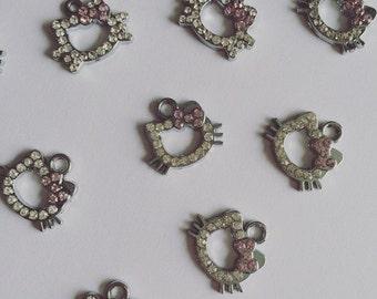 Hello Kitty charms // Metal charms