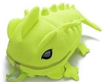Adorable Chameleon Lizard Backpack