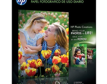 HP Q8723A Everyday Gloss Photo Paper - Letter -  8.5x11 - 50 Sheets