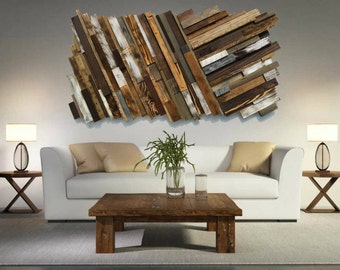 Large Wooden Wall Art large wood art free shipping reclaimed wood wall art rustic