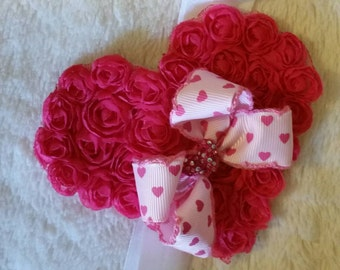 Hot Pink Valentine Headband