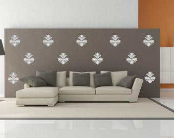 Wall Decals Patterns, Damask pattern, wall stickers, damask wall decal,