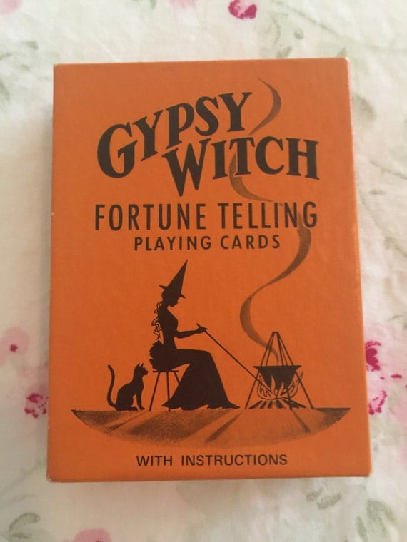 Vintage Gypsy Witch Fortune Telling Cards With Instructions