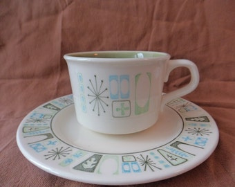 Taylor, Smith and T (TSandT) Taylorstone Cathay Cup and Saucer Made in USA circa 1964