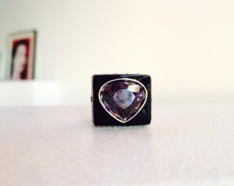 Purple Diamond Swarovski Ring