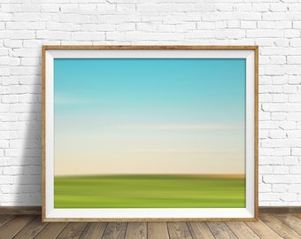 "landscape, landscape print, abstract, abstract art, pastels, large art, large wall art, instant download printable art - ""Landscape No. 3"""