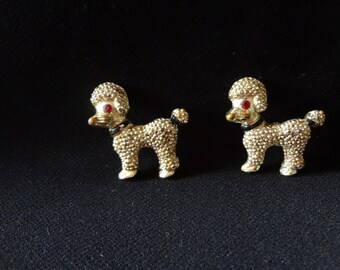 Mid-Century Poodle Set of Brooches