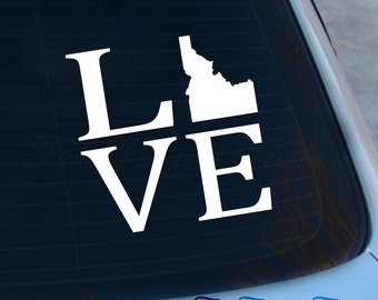 Love Idaho Decal - State Decal - Home Decal - ID Sticker - Love - Laptop - Macbook - Car Decal