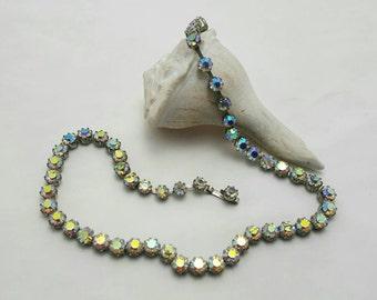 WEISS Aurora Borealis Necklace