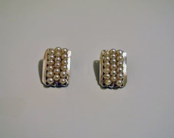 Clip on vintage earrings