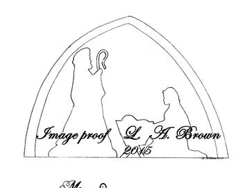 Printable Coloring Page Christmas Nativity Silhouette
