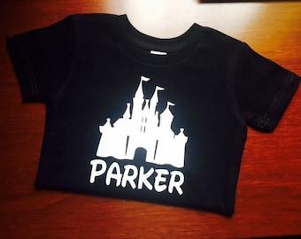 Boys personalized disney castle shirt!