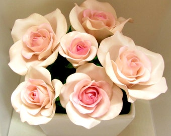 Gumpaste Rose, Gumpaste Flower, Wedding Cake Decoration
