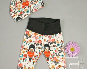 Lucey Harem Pants, Organic Baby Harem Pants, Organic Toddler Pants, Hipster Baby Pants, Girls Harem Pants