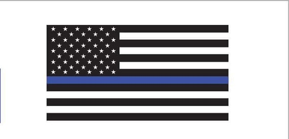 Thin blue line American flag decal Police Law enforcement