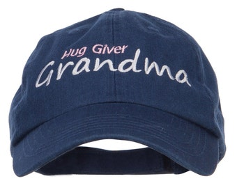 Hug Giver Grandma Embroidered Low Cap