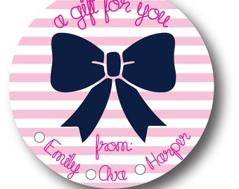 Personalized Gift Stickers_Big Bow