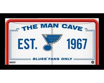 St. Louis Blues Man Cave Sign