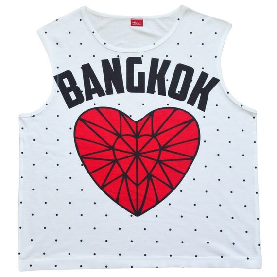 TepThaiTewa : Bangkok Diamond Heart Women's Tank Top