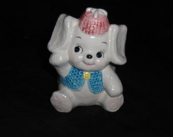 Vintage Relpo 6574 Puppy Ceramic Planter