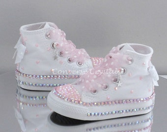 Baby/Toddler/Girls Custom Crystal *Bling* Converse - Double Row Crystals All Infant Sizes
