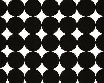 Disco Dot in Ink, Black Dot Fabric