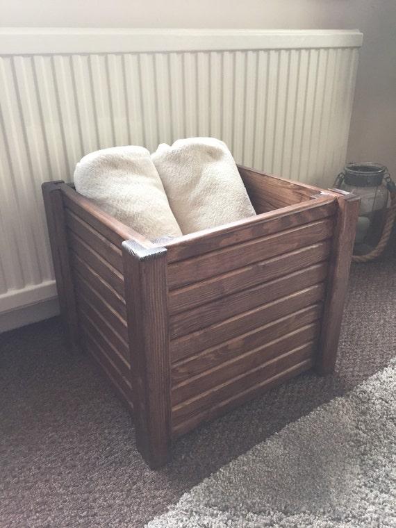 Handmade solid wood livingroom blanket box toy box.