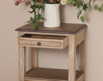 Vintage Bedside Table Cupboard/Side Table Painted In F&B Dimity