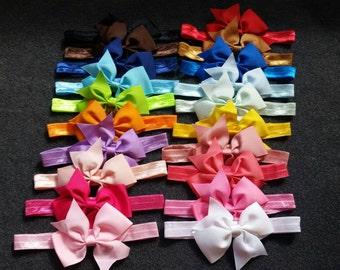 Baby Bow Headband, Set of 20 Baby Girl Headbands, Baby Bows, Baby Headbands, 4 Inch Bows, Newborn Girl, Toddler, Infant, Bow Headbands