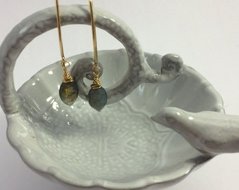Labradorite Gold Filled Earrings