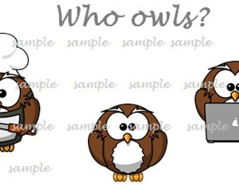 Who Owls? - Printable Stickers