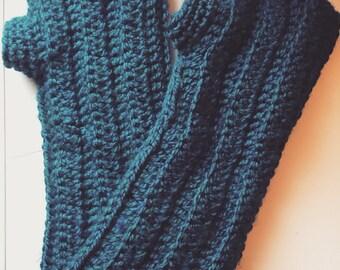 Handmade over the jacket fingerless gloves