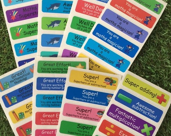 Maths stickers