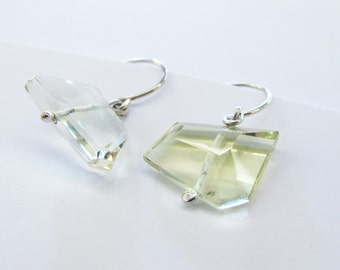 Citrine and Silver Earrings
