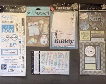 Baby Boy Scrapbook Embellishment Set